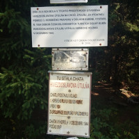 Infotabuľa na mieste bývalej Hviezdoslavovej útulne