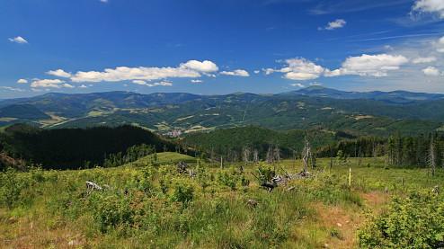 Výhľad z Babinej - Stolické vrchy a Kráľova hoľa