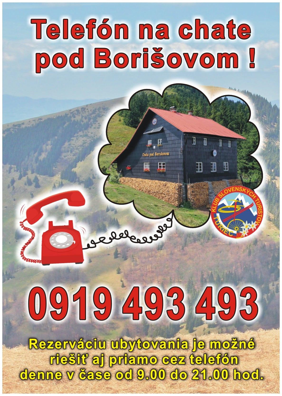 Chata pod Borišovom má nový telefón