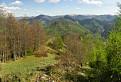 Výhled z Kozej skaly nad Gaderom na jihovýchod