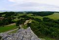 Panoráma z hradu Branč