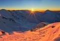 Zimný východ slnka na Príslope