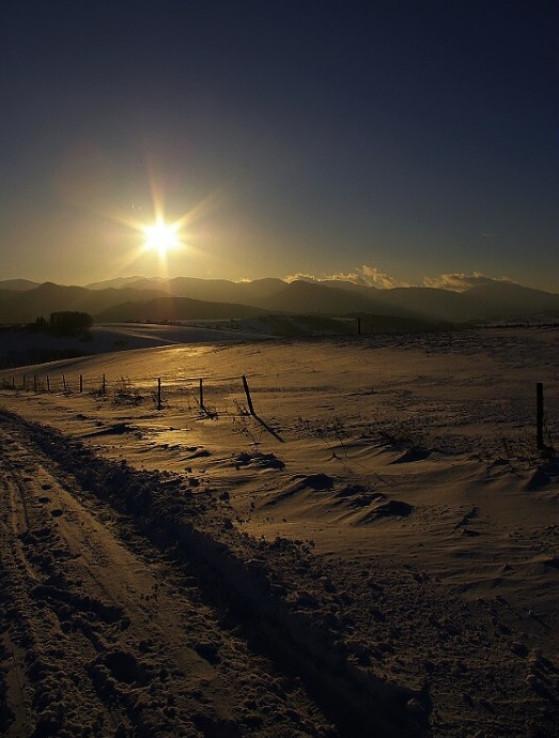 Zimný západ