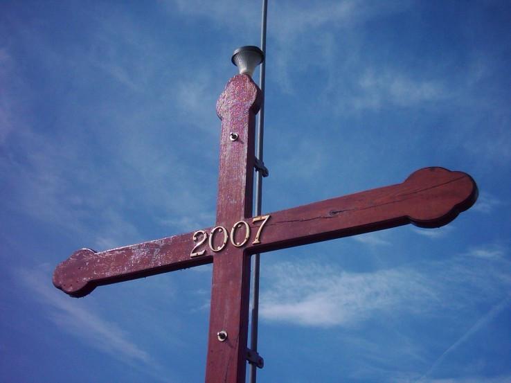 Kríž na rozhľadni Kukla (564 m n.m.)