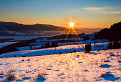 Západ slnka nad Veprom