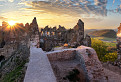 Západ Slnka na hrade Šášov