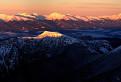 Panoráma Tatier pri západe slnka / 1.0000